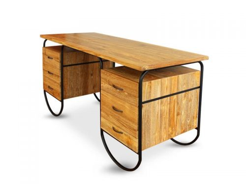 industrial metal writing desk