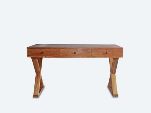X-Legs Teak Wood Writing Desk
